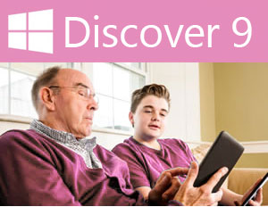 Windows 9 Grandfather and Grandchild Promo Image