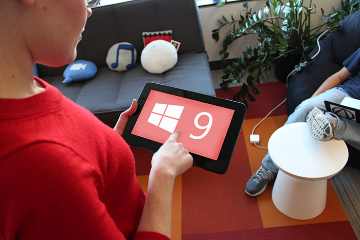 Windows 9 Demo on Tablet
